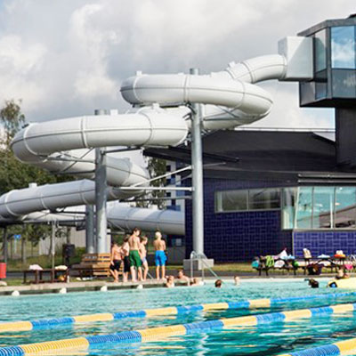 Stay and have fun at adventure pools in Nyköping