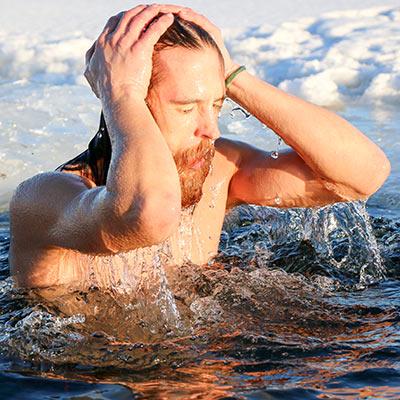 Boka kallbadspaket och övernattning i ett