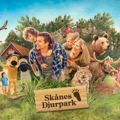 Hotellnatt och Skånes Djurpark med familjen