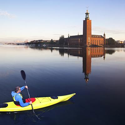 Upplev Stockholm från KAJAK, MOUNTAINBIKE eller SUP!